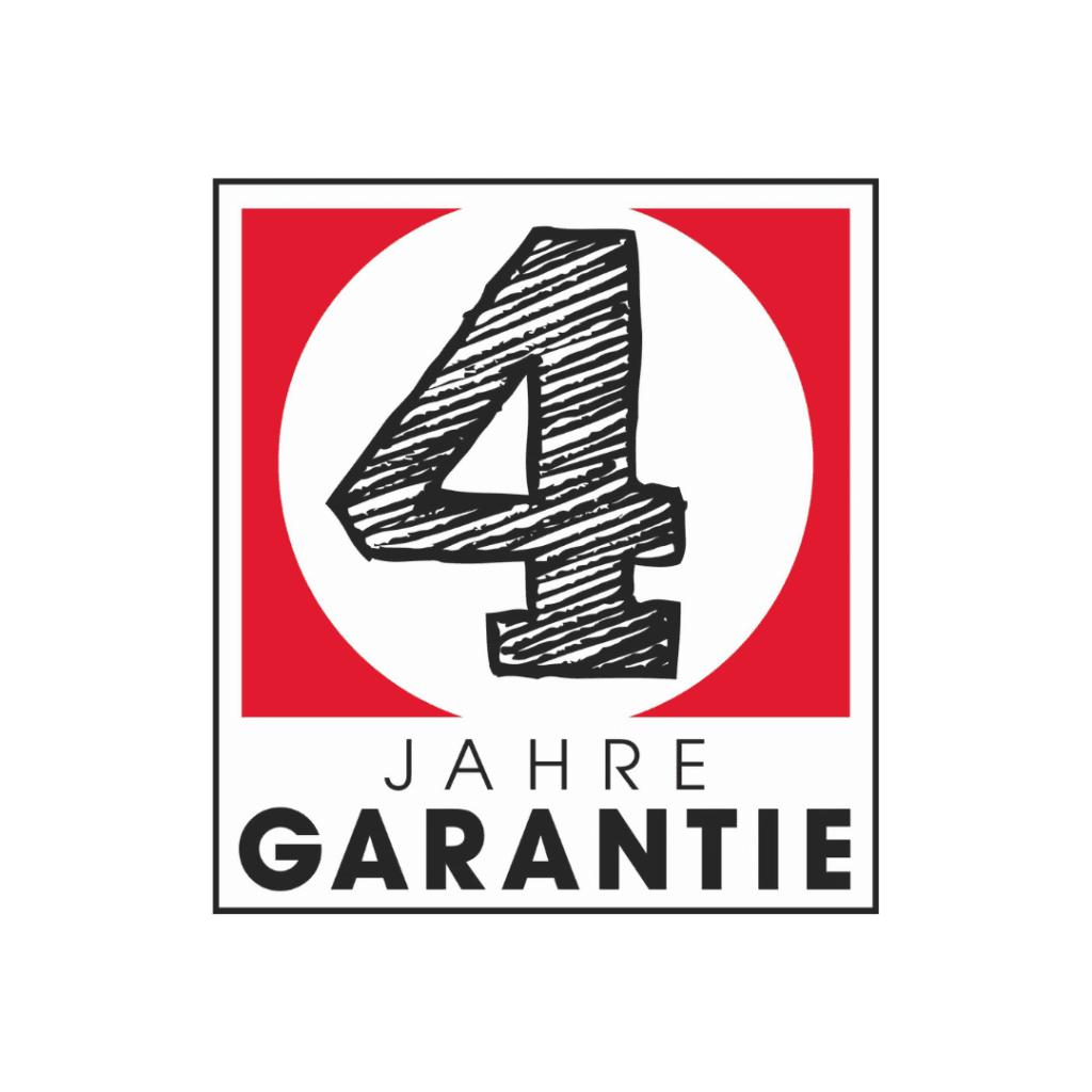 4 Jahre Garantie Logo