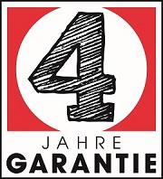 4 Jahre Garantie Logo von Step by Step