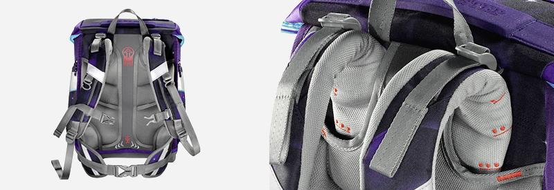 Ergonomischer Schulranzen-Rücken eines Step by Step Schulranzens