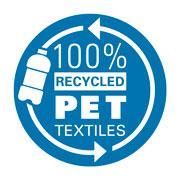 Textilien des Schulranzens bestehen zu 100% aus recycelten PET-Flaschen