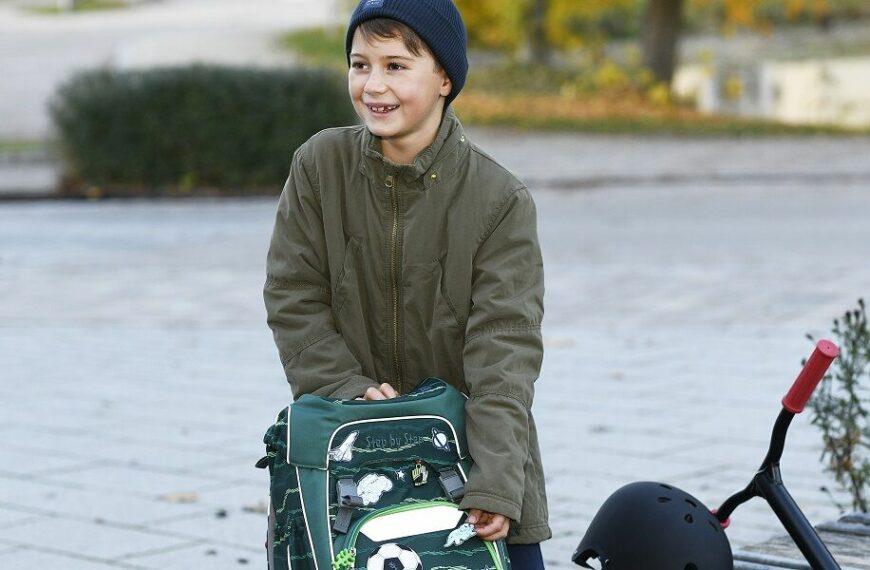 Reflektierende Aufkleber für Schulranzen und Kleidung