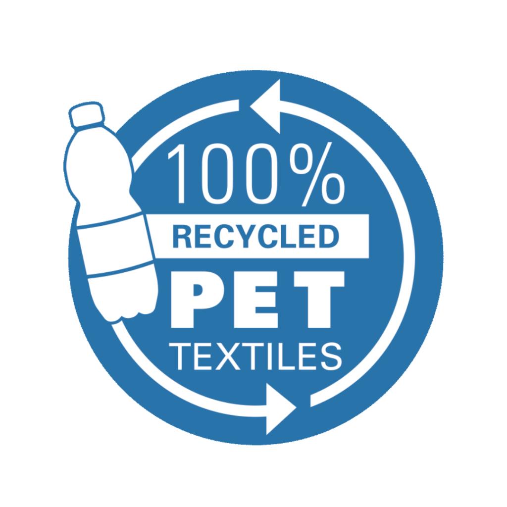 100 % recyceltes PET Logo