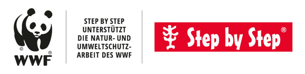 Kooperationslogo WWF & Step by Step Schulranzen