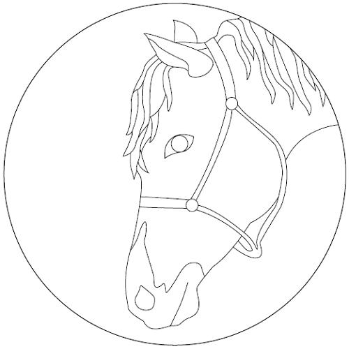 Vorschaubild Pferde-Ausmalbilder
